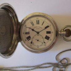 Relojes de bolsillo: !!! UNICO¡¡¡RELOJ DE BOLSILLO DE PLATA 4 TAPAS EN ESPAÑA PAUL JEANNOT . Lote 60849523