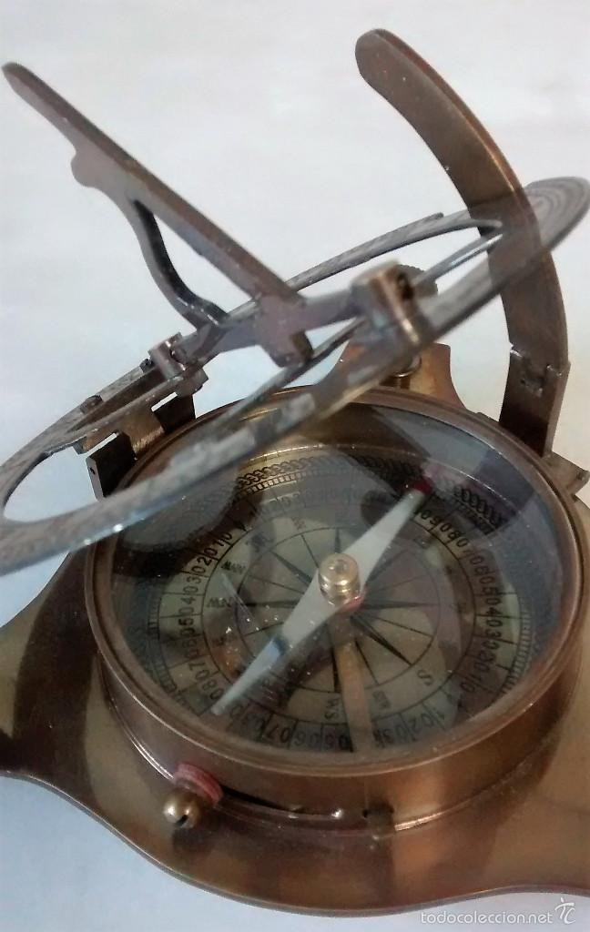 Tremendo reloj de sol con brújula en bronce ant comprar relojes.