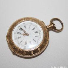 Relojes de bolsillo: RE162. RELOJ DE BOLSILLO. J. LE COULTRE. ORO DE 18 KT. FUNCIONA. PRINC. S. XX. Lote 199408690