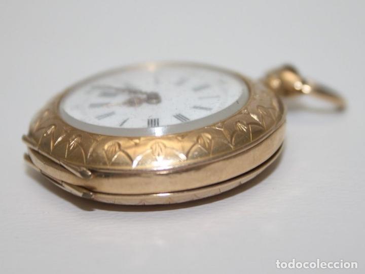 Relojes de bolsillo: RE162. RELOJ DE BOLSILLO. J. LE COULTRE. ORO DE 18 KT. FUNCIONA. PRINC. S. XX - Foto 2 - 199408690
