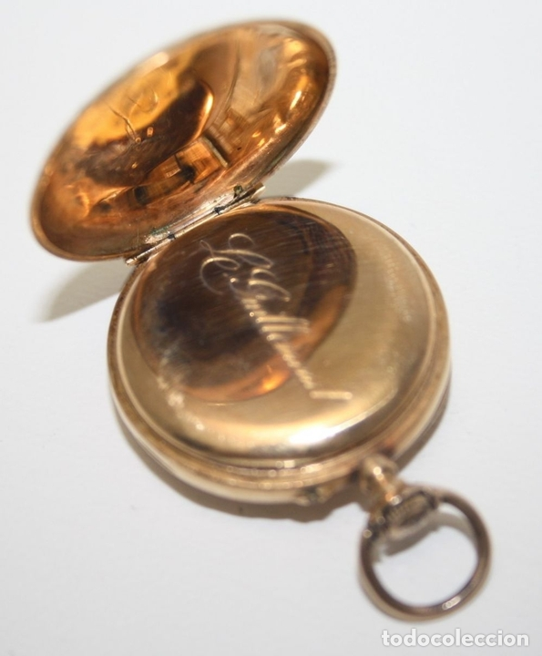Relojes de bolsillo: RE162. RELOJ DE BOLSILLO. J. LE COULTRE. ORO DE 18 KT. FUNCIONA. PRINC. S. XX - Foto 3 - 199408690