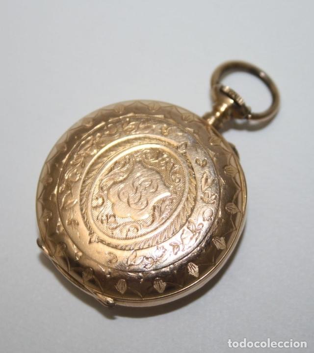 Relojes de bolsillo: RE162. RELOJ DE BOLSILLO. J. LE COULTRE. ORO DE 18 KT. FUNCIONA. PRINC. S. XX - Foto 7 - 199408690