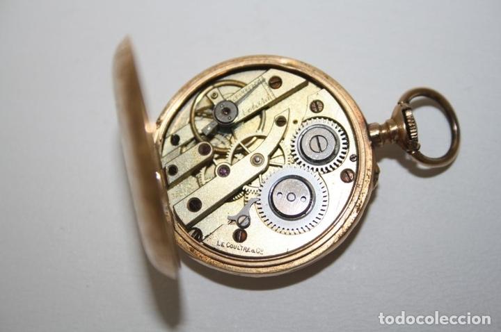 Relojes de bolsillo: RE162. RELOJ DE BOLSILLO. J. LE COULTRE. ORO DE 18 KT. FUNCIONA. PRINC. S. XX - Foto 8 - 199408690