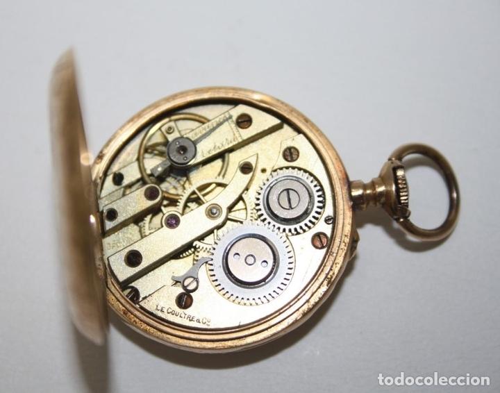 Relojes de bolsillo: RE162. RELOJ DE BOLSILLO. J. LE COULTRE. ORO DE 18 KT. FUNCIONA. PRINC. S. XX - Foto 9 - 199408690