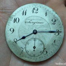 Relojes de bolsillo: MAQUINARIA DE RELOJ DE BOLSILLO SERGINES - VER FOTOS DETALLADAS. Lote 62439288