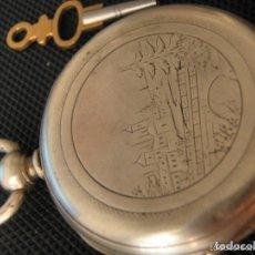 Relojes de bolsillo: FRANCÉS PLATA A LLAVES 1898 PUENTE GUÉRET B382A. Lote 62944596