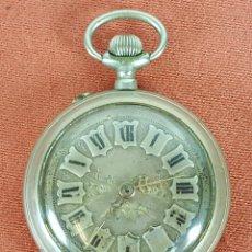 Relojes de bolsillo: RE394. RELOJ DE BOLSILLO. METAL PLATEADO. SISTEMA ROSCOPF. SUIZA. SIGLO XX. . Lote 62978300