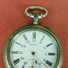 Relojes de bolsillo: RE401. RELOJ DE BOLSILLO MARCA LONGINES. ACERO INOXIDABLE. SISTEMA ROSCOPF. SIGLO XX. . Lote 63316948