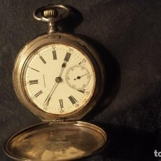 Relojes de bolsillo: RELOJ ANTIGUO LONGINES DE PLATA. Lote 63330876