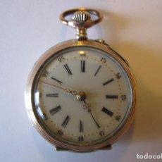 Relojes de bolsillo: RELOJ DE BOLSILLO DE MONJA PLATA 800 CYLINDRE 10 RUBIES 3 TAPAS PERFECTO FUNCIONAMIENTO 31MM.. Lote 63372768