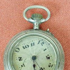 Relojes de bolsillo: RE404. RELOJ DE BOLSILLO. CAJA EN PLATA LABRADA. SISTEMA ROSCOPF. CIRCA 1930.. Lote 63771215