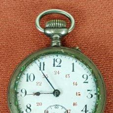 Relojes de bolsillo: RE405. RELOJ DE BOLSILLO. L'ALOUETTE. CAJA EN PLATA. AÑOS 30/40. . Lote 63773375