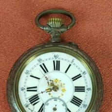 Relojes de bolsillo: RE411. RELOJ DE BOLSILLO. ACIER GARANTI. SISTEMA ROSCOPF. CAJA EN METAL. 1900.. Lote 118854362