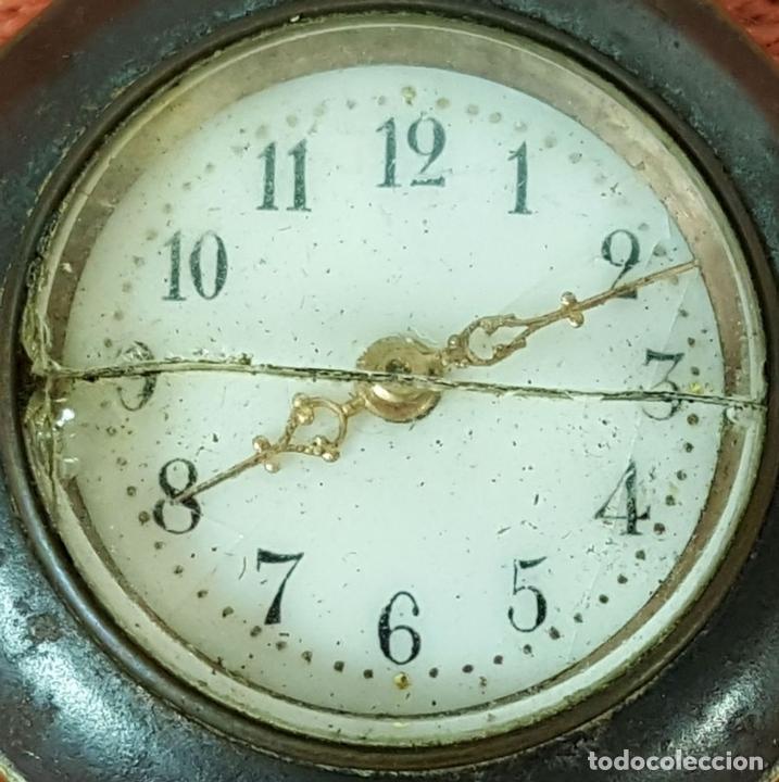 Relojes de bolsillo: RE414. RELOJ COLGANTE. FORMA EXAGONAL. MODERNISTA. CIRCA 1940. - Foto 3 - 63902959