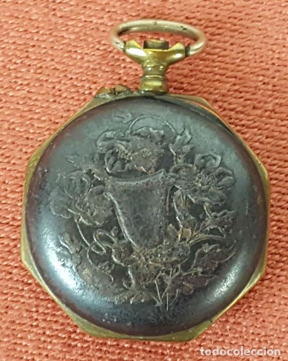 Relojes de bolsillo: RE414. RELOJ COLGANTE. FORMA EXAGONAL. MODERNISTA. CIRCA 1940. - Foto 4 - 63902959