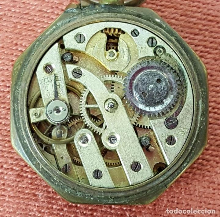 Relojes de bolsillo: RE414. RELOJ COLGANTE. FORMA EXAGONAL. MODERNISTA. CIRCA 1940. - Foto 5 - 63902959