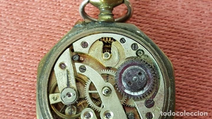 Relojes de bolsillo: RE414. RELOJ COLGANTE. FORMA EXAGONAL. MODERNISTA. CIRCA 1940. - Foto 7 - 63902959