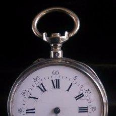 Relojes de bolsillo: CA. 1900 - RELOJ DE BOLSILLO - PLATA - MUY BONITO. Lote 64139115