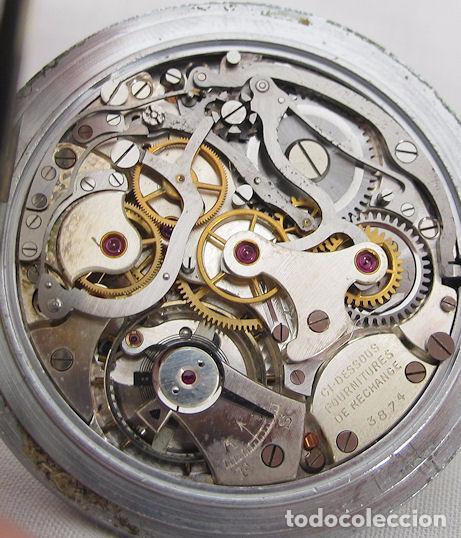 Relojes de bolsillo: RELOJ DE BOLSILLO CRONO CRONOGRAFO ANTIGUO MILITAR EXCELSIOR PARK - Foto 2 - 64305707