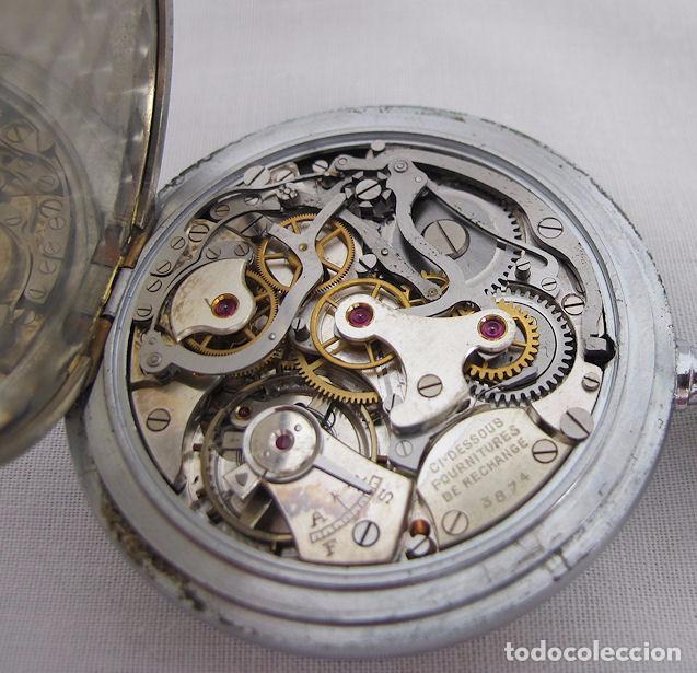 Relojes de bolsillo: RELOJ DE BOLSILLO CRONO CRONOGRAFO ANTIGUO MILITAR EXCELSIOR PARK - Foto 3 - 64305707