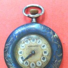 Relojes de bolsillo: RELOJ COSTANTIC DE PLATA NIELADA EN ORO, EN ESTADO DE MARCHA. Lote 64539539