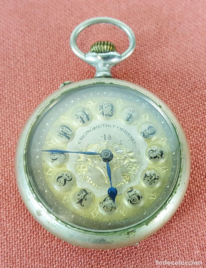 RE418. RELOJ DE BOLSILLO. CRONOMETRO OBRERO. SISTEMA ROSKOPF. SIGLO XIX. (Relojes - Bolsillo Carga Manual)