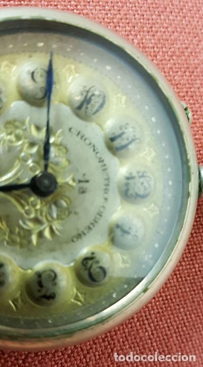 Relojes de bolsillo: RE418. RELOJ DE BOLSILLO. CRONOMETRO OBRERO. SISTEMA ROSKOPF. SIGLO XIX. - Foto 4 - 64542115