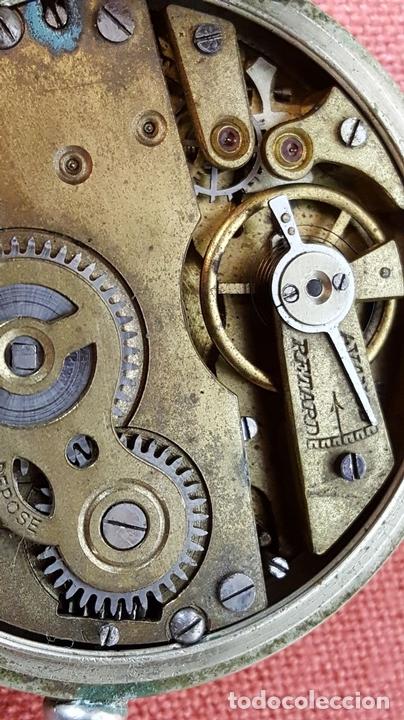 Relojes de bolsillo: RE418. RELOJ DE BOLSILLO. CRONOMETRO OBRERO. SISTEMA ROSKOPF. SIGLO XIX. - Foto 7 - 64542115