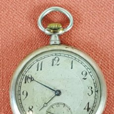 Relojes de bolsillo: RE421. RELOJ DE BOLSILLO. SISTEMA DE CILINDRO. CAJA EN PLATA 800. SIGLO XX. . Lote 64562339