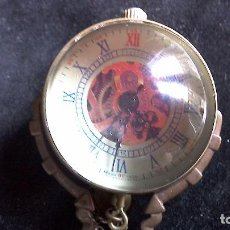 Relojes de bolsillo: RELOJ DE BOLA DE CRISTAL A CUERDA EN FUNCIONAMIENTO. Lote 64762859