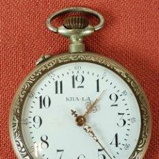 Relojes de bolsillo: RE435. RELOJ DE BOLSILLO MARCA KHA-LA. CAJA ABIERTA. ESTILO ROSKOPF. SIGLO XX. . Lote 65738006