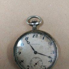 Relojes de bolsillo: RELOJ DE BOLSILLO, CARGA MANUAL. CHRONOMETRE. CAJA DE PLATA. Lote 65747450
