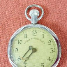 Relojes de bolsillo: RE441. RELOJ DE BOLSILLO. SWISS TIMEKEEPER. CAJA EN METAL. SIGLO XX. . Lote 65748574