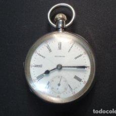 Relojes de bolsillo: RELOJ BOLSILLO LEPINE, PLATA MENESES, AMERICAN WHALTHAM WHATCH CO.,1893, FUNCIONANDO. Lote 65808166