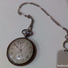 Relojes de bolsillo: RELOJ WALTHAM DE PLATA. ANTIGUO. FUNCIONA. Lote 65812386