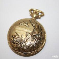 Relojes de bolsillo: RE230 RELOJ DE BOLSILLO. JOCA WATCH IMITA MODELO ANTIGUO. METAL DORADO. FUNCIONA. Lote 113277036
