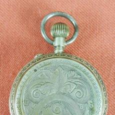 Relojes de bolsillo: RE447. RELOJ DE BOLSILLO. SISTEMA ROSKPOF. CAJA EN PLATA LABRADA. SIGLO XIX-XX.. Lote 66583618