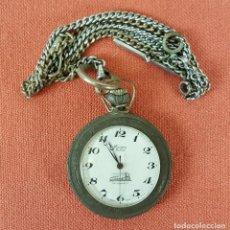 Relojes de bolsillo: RE449. RELOJ DE BOLSILLO EVERTON DELUXE. CAJA EN METAL LABRADO. 1 JOYA. SIGLO XX. . Lote 66717506