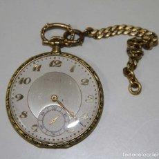 Relojes de bolsillo: RE298 - RELOJ DE ORO DE BOLSILLO. HAAS NEVEUX CIE. ORO 18 KT. ESFERA BICOLOR. AÑOS 20-30. Lote 50136750