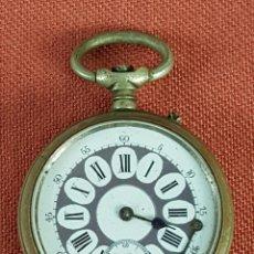 Relojes de bolsillo: RE456. RELOJ DE BOLSILLO. SISTEMA ROSKOPF. CAJA EN METAL PLATEADO. SIGLO XX.. Lote 66807510