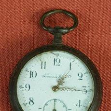 Relojes de bolsillo: RE457. RELOJ DE BOLSILLO. TAVANNES WATCH. CAJA EN METAL . SIGLO XX. . Lote 66809646