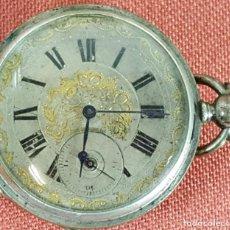 Relojes de bolsillo: RE458. RELOJ DE BOLSILLO. CAJA EN PLATA 800. 8 RUBIS. CARGA POR CILINDRO. SIGLO XX. . Lote 66810806