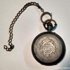 Relojes de bolsillo: RELOJ DE BOLSILLO EN PLATA CON TRES TAPAS - REMONTOIR - ANCRE LIGNE DROITE 15 RUBIS - LOTE 0001. Lote 66818026