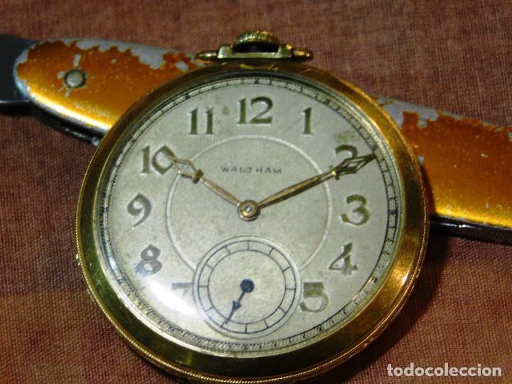 PRECIOSO RELOJ BOLSILLO WALTHAM AMERICANO GOLD FILLED ORO 14 KTS (Relojes - Bolsillo Carga Manual)