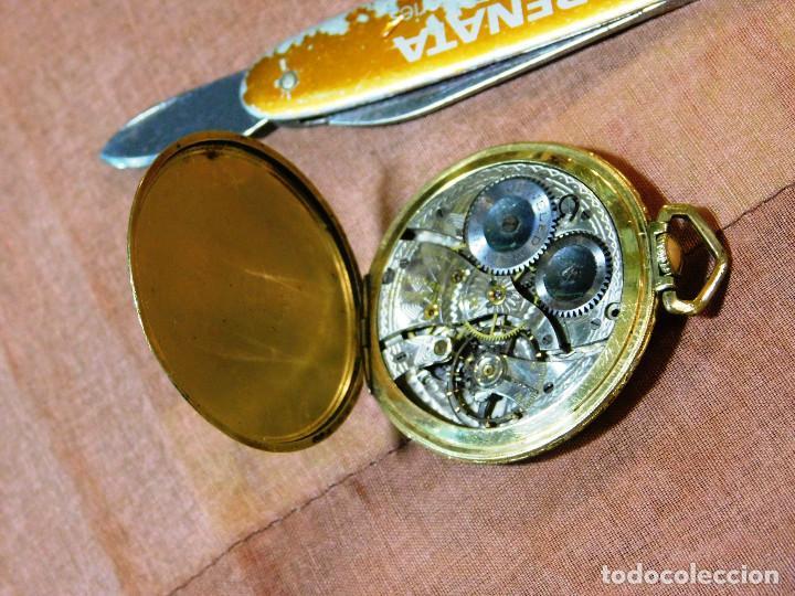 Relojes de bolsillo: PRECIOSO RELOJ BOLSILLO WALTHAM AMERICANO GOLD FILLED ORO 14 KTS - Foto 5 - 67494041