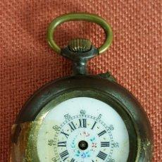 Relojes de bolsillo: RE478. RELOJ COLGANTE. CAJA EN METAL. MAQUINARIA DE PUENTES. SIGLO XX. . Lote 67905957