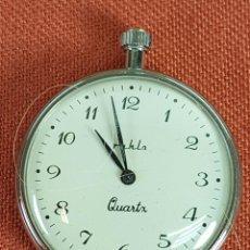 Relojes de bolsillo: RE485. RELOJ DE BOLSILLO. RUHLA. QUARZO. CAJA EN METAL. SIGLO XX. . Lote 67925305