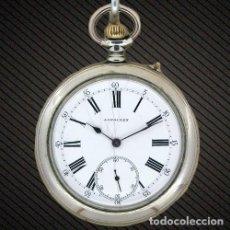 Relojes de bolsillo: W060 - RELOJ DE BOLSILLO LONGINES CAJA NIQUEL - 54 MM DIAMETRO - DE 1880 APROXIMADAMENTE. Lote 68019237