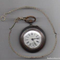 Relojes de bolsillo: RELOJ DE BOLSILLO EN HIERRO MARCA LONGINES. Lote 68761021