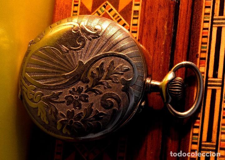 Relojes de bolsillo: BONITO RELOJ DE BOLSILLO, DEPOSE ARGENTAN - Foto 2 - 68888945